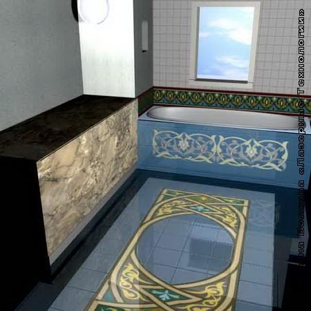 Панно для оформления ванной комнаты