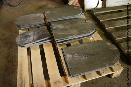 Нержавеющая сталь обработана гидрорезкой
